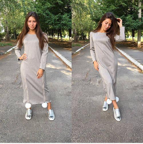 Платье с помпончиками