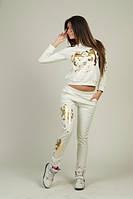 Спортивный костюм с львами принт фольга 87 (АС!)