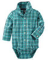 Рубашка боди Картерс для мальчика с длинным рукавом