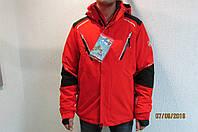 Мужская горнолыжная куртка Azimuth 8103 красная с черным код 252б