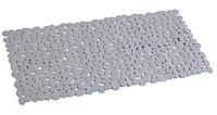Коврик для ванной антискользящий прямоугольный серый AWD02090807