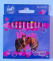 "Восковые карандаши 12 цветов ""Sweet Horses"" 274530 Starpak"