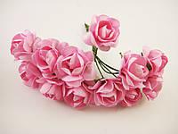 Роза Светло розовая с проволокой