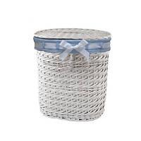 Корзина для белья плетеная с крышкой Alice L белая AWD02241078