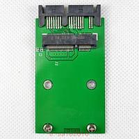 Адаптер microSATA для подключения SSD винтов mSATA