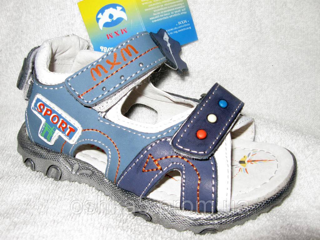 c838c5708 Сандали детские босоножки для мальчика МхМ Кожа р.25-30 - Oshka-Обувь
