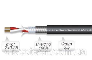 Кабель микрофонный Roxtone MC020, 2х0.25 кв. мм, вн. диаметр 6.5 мм, 100 м