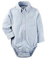 Детская рубашка боди Картерс для мальчика с длинным рукавом