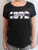 Футболка женская черная Adidas (19780) код 98д