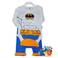 Детский комплект «Бетмен»: боди, шатнишки и шапочка, для мальчиков, 68 см