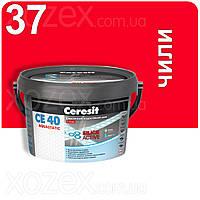 2кг.Ceresit CE 40 aquastatic Эластичный водостойкий цветной шов Чили 37