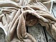 Универсальный махровый спальник, коричневый, 0-6 мес., фото 5