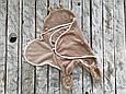 Универсальный махровый спальник, коричневый, 0-6 мес., фото 2