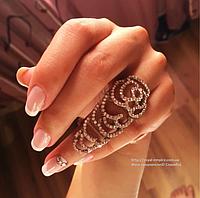 """Кольцо """"Анастасия"""" серебристый цвет,  на весь палец."""