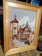 Картина вышивка крестиком, рамка дерево 43х55см