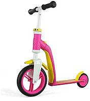 Самокат-беговел Scoot&Ride Highwaybaby розово-желтый (SR-216271-PINK-YELLOW)