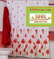 """Шторка для ванной комнаты """"Poppy"""" или Маки, Miranda. Производство Турция"""