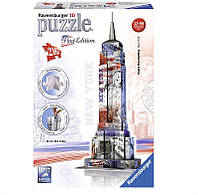 3D Пазл Ravensburger Небоскреб Эмпайр-Стейт-Билдинг в цветах флага 216 элементов (RSV-125838)
