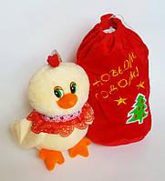 Петушок с мешком для подарка (17x14 см)