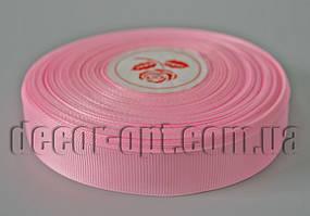 Лента репсовая розовая 2,0 см 36 ярд