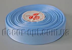 Лента репсовая голубая 2,0 см 36 ярд