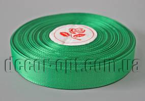 Лента репсовая зеленая 2,0 см 36 ярд