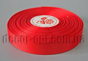 Лента репсовая красная 2,0 см 36 ярд