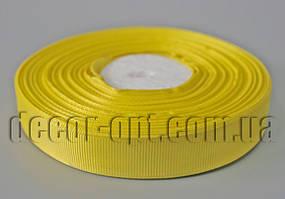 Лента репсовая желтая 2,0 см 36 ярд