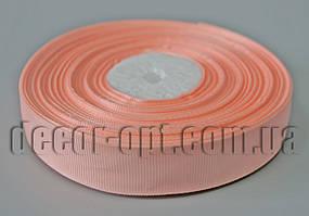 Лента репсовая персиковая 2,0 см 36 ярд