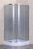 Душевая кабина Sansa S-90/15 90x90x194 стекло мозаик-серое шелкотрафарет
