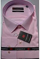 Однотонная классическая рубашка