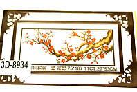 НАБОР ДЛЯ ВЫШИВАНИЯ крестиком Мулине Сакура нитки иголка ткань схема в комплекте большой размер