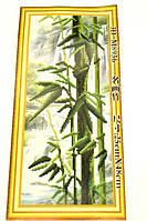 НАБОР ДЛЯ ВЫШИВАНИЯ крестиком Мулине  Бамбук нитки иголка ткань схема в комплекте большой размер