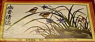 НАБОР ДЛЯ ВЫШИВАНИЯ крестиком Мулине птицы нитки иголка ткань схема в комплекте большой размер