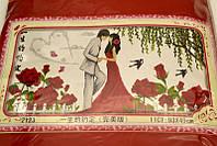 НАБОР ДЛЯ ВЫШИВАНИЯ крестиком Мулине  LOVE любовь нитки иголка ткань схема в комплекте большой размер