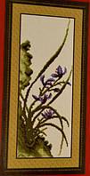 НАБОР ДЛЯ ВЫШИВАНИЯ крестиком Мулине  Природа нитки иголка ткань схема в комплекте большой размер