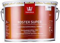 Грунтовка антикоррозионная Rostex Super Tikkurila Ростекс Супер красно-коричневая, 3л