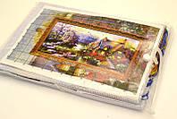 НАБОР ДЛЯ ВЫШИВАНИЯ крестиком Мулине  Домик европа  нитки иголка ткань схема в комплекте большой размер