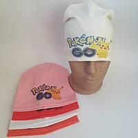 Трикотажная шапка  для девочки 7-11 лет