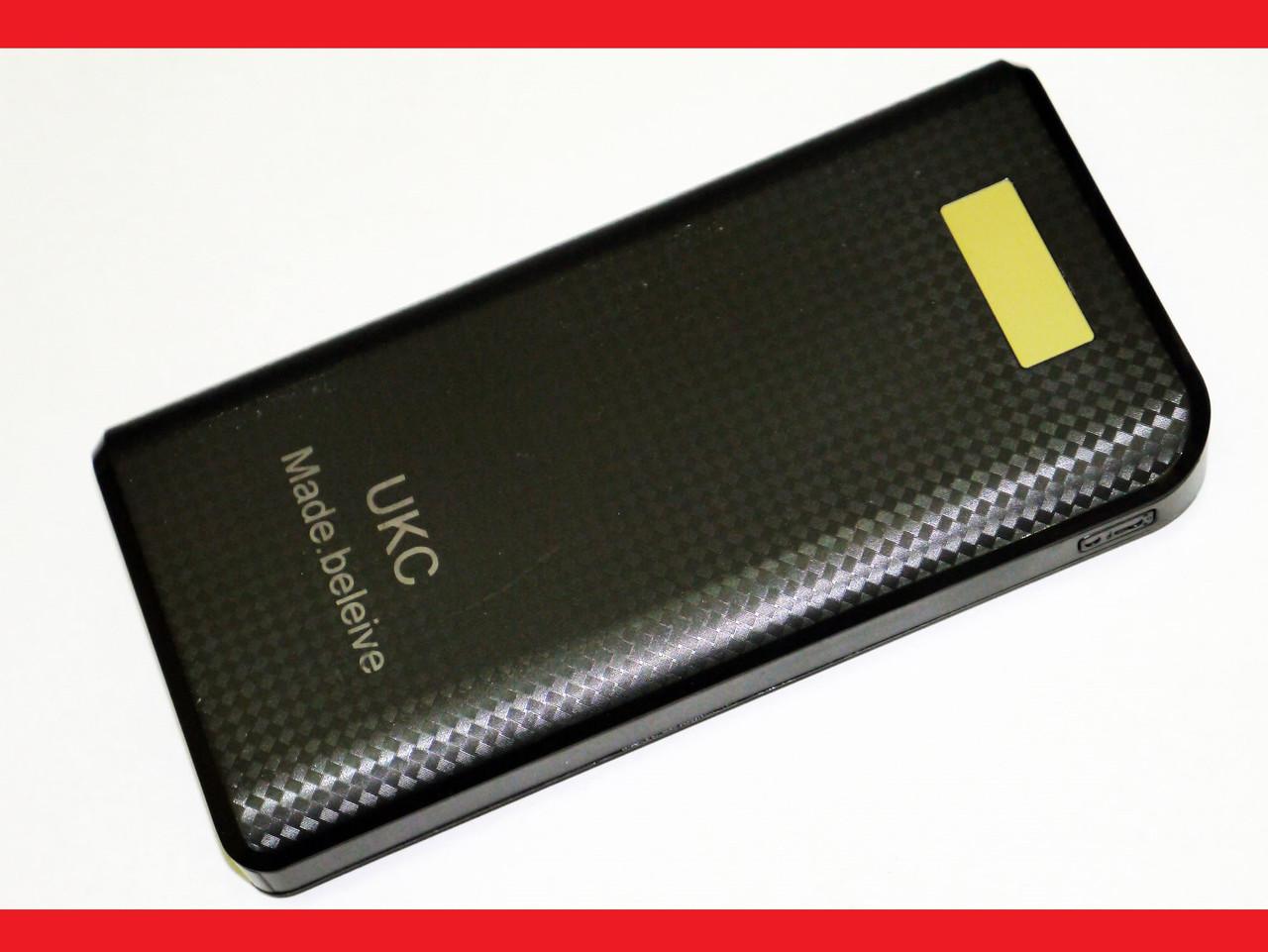 Power Bank Зарядное UKC 30800 mAh Внешний аккумулятор Черный