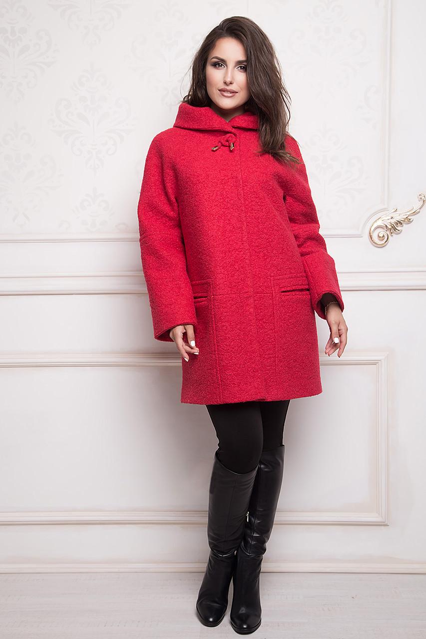 Пальто женское утепленное Almatti модель O-248-16 красное