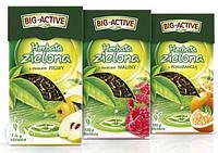 Зеленый чай листовой Big-Active Herbata zielona с кактусом