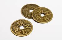 Монета счастья медная иероглифы