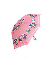 Зонтик детский MK 0355 (60шт) длина47,5см,трость59см,диам.76,5см,спица44см,ткань,рисун,5видов,