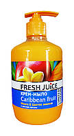 Крем-мыло для тела Fresh Juice  Caribbean Fruit (Манго & Цветок лимона) с маслом арганы - 460 мл.