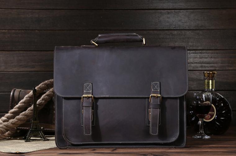 Кожаный мужской портфель Bexhill коричневый