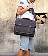 Кожаный мужской портфель Bexhill коричневый, фото 7