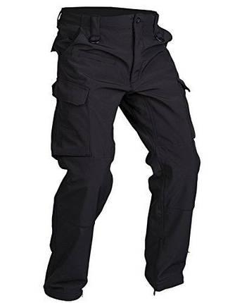 Штаны с водоотталкивающим покрытием MilTec Softshell Black 11360002, фото 2