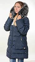 Молодежная,женская куртка-пуховик с натуральной,меховой опушкой.Новая коллекция по цене от производителя!