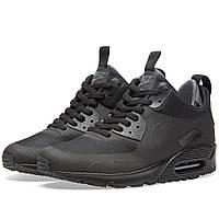 Оригинальные  кроссовки Nike Air Max 90 Mid Winter Black & Black